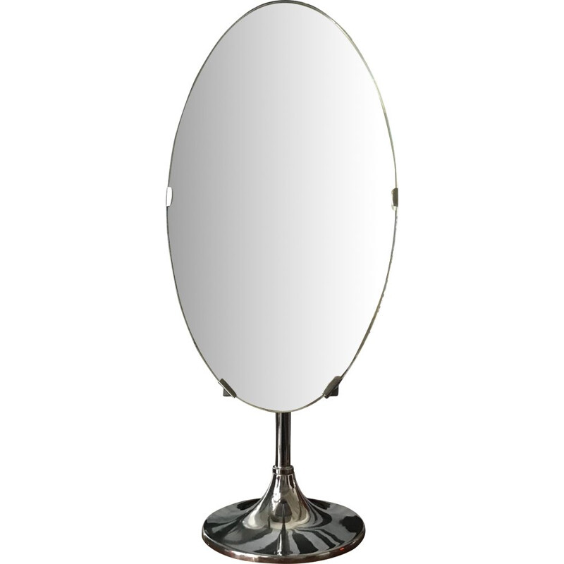 Vintage mirror on tilting stand, 1970s