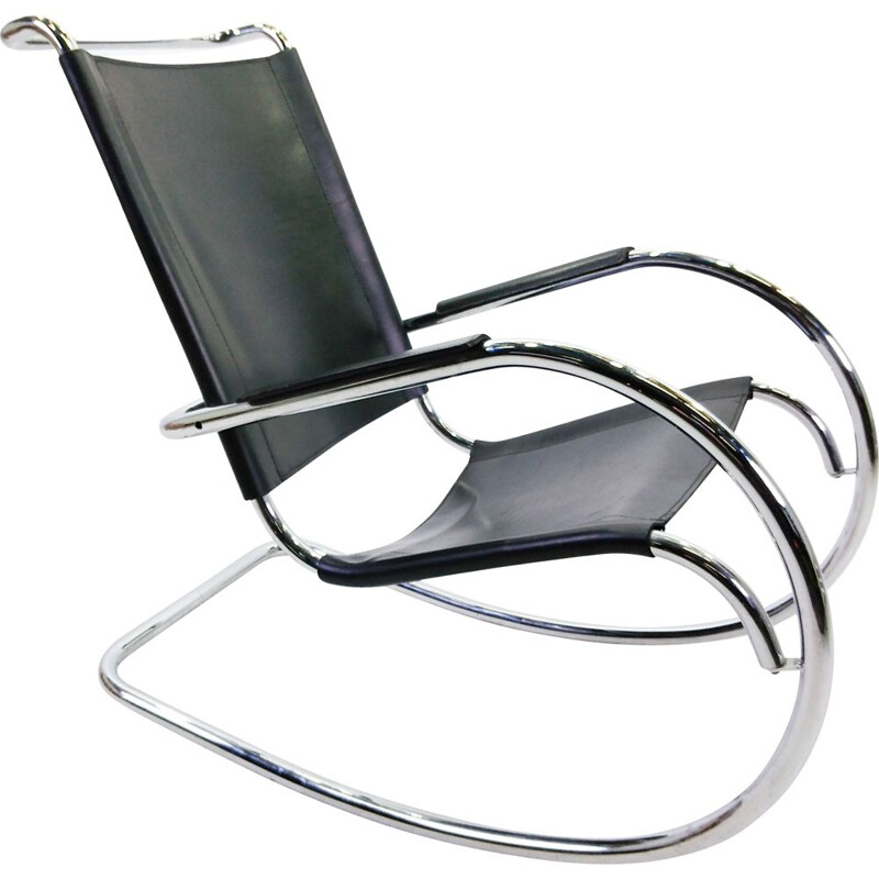 Vintage rocking chair by Fasem, Italy