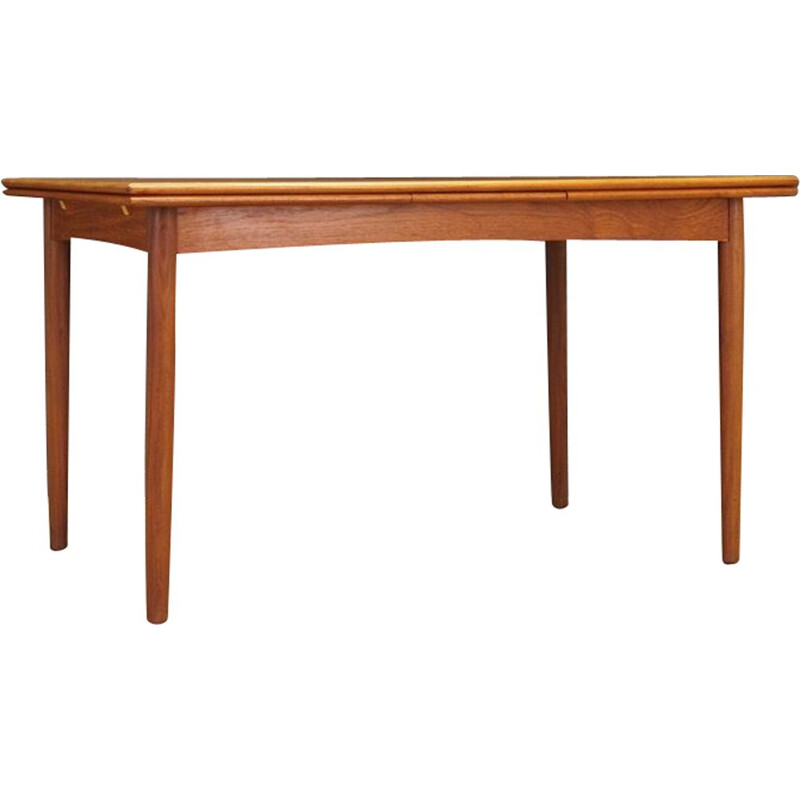 Vintage Danish Table in Teak Extendable, 1960