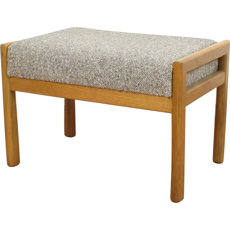 Oak foot stool from Casala, 1960s
