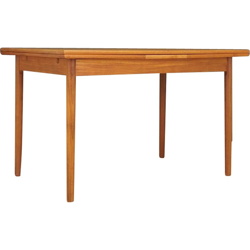 Danish extensible vintage dining table in teak, 1970s