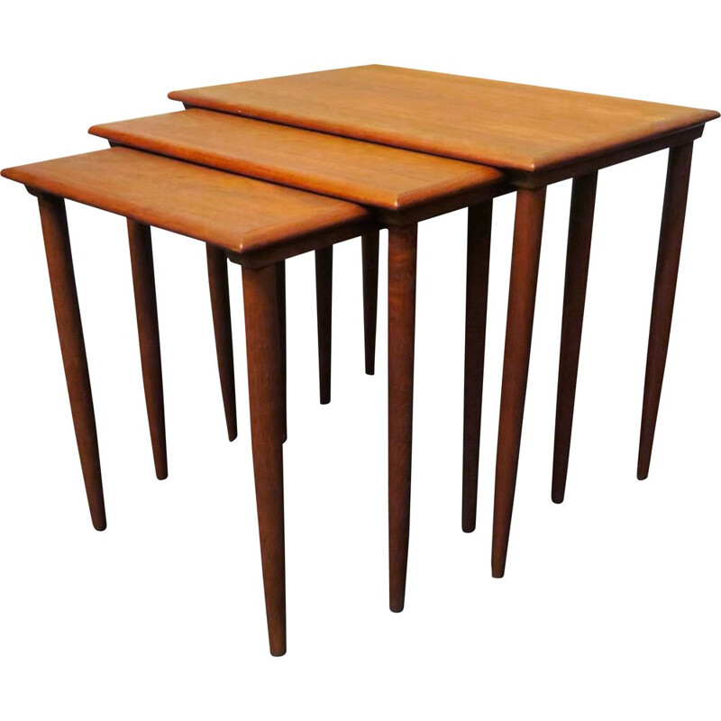 Danish teak vintage nesting tables, 1960s