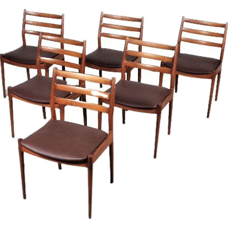 Set of 6 model 191 chairs by Arne Vodder