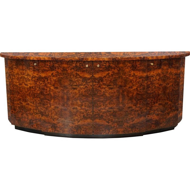 Vintage curved bramble wood sideboard by JC Mahey Paris