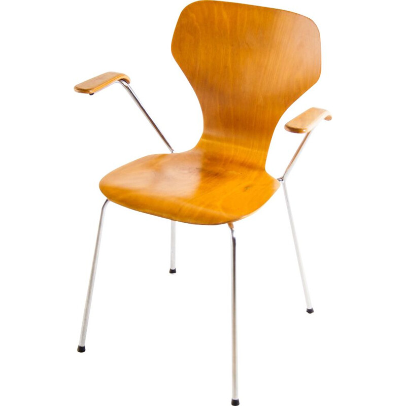Vintage plywood armchair by Phoenix, Denmark