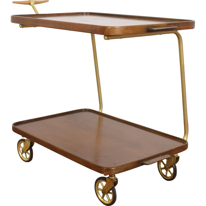 Vintage German serving trolley, 1970s