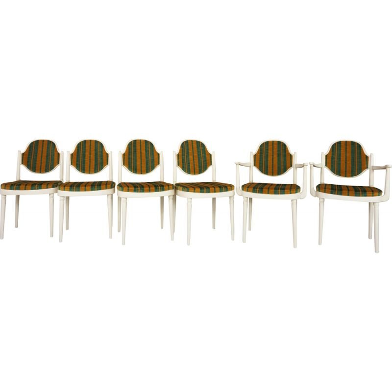 Suite of 6 vintage chairs by Hanno von Gustedt for Thonet