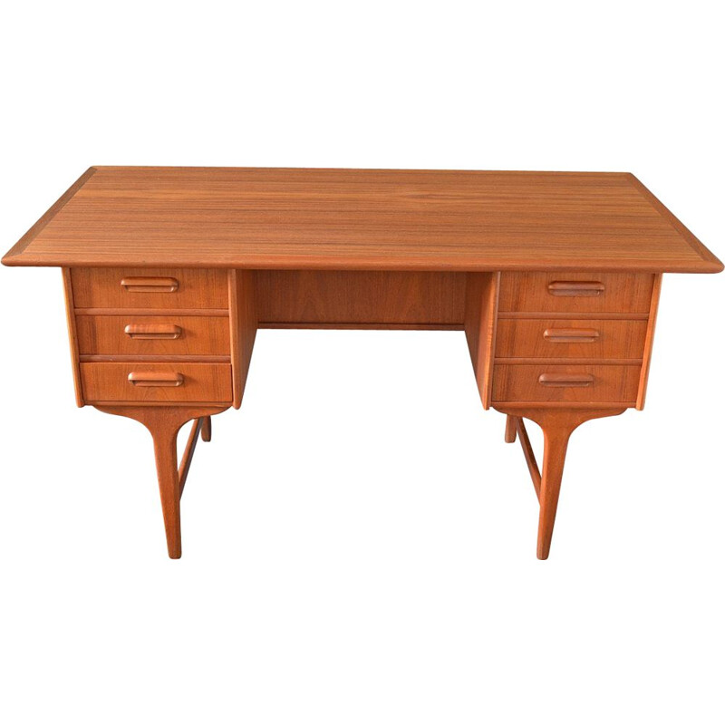 Vintage Danish teak writing desk by Gunnar Nielsen Tiebergaard, 1960s