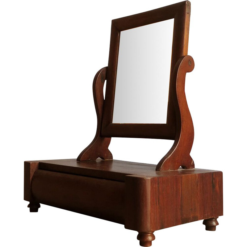 Vintage dressing table in rosewood with drawer 1930s
