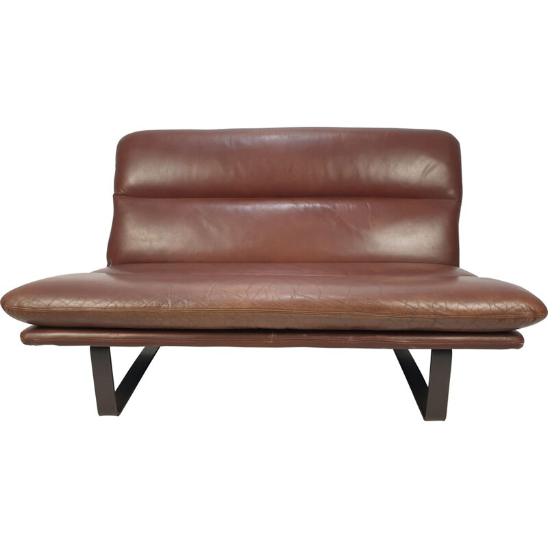 Vintage Leather Sofa by Kho Liang Ie for Artifort, 1960