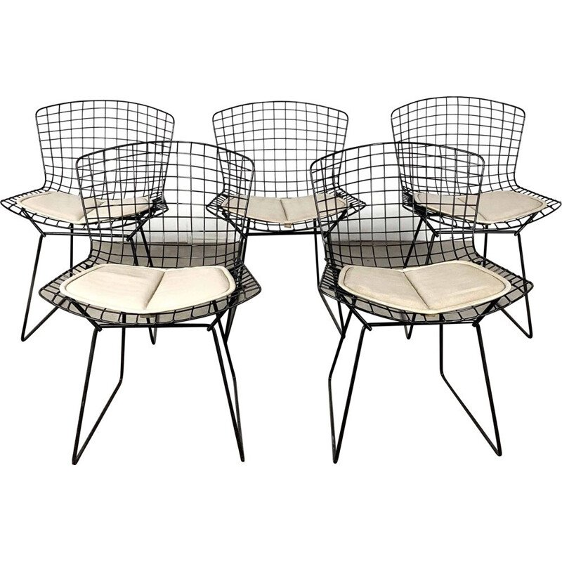 Set of 5 Dining Chairs by Harry Bertoia for Knoll, 1970s