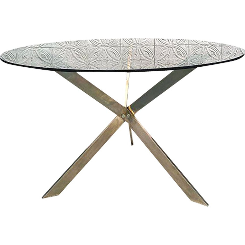 Vintage round table, 1970