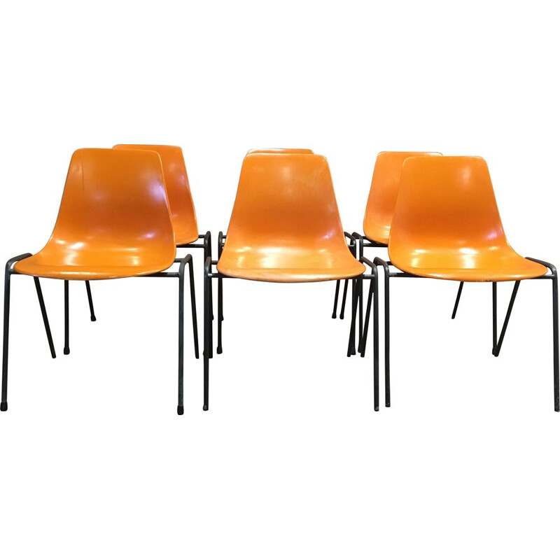 Set of six vintage Georg Leowald chairs 1960