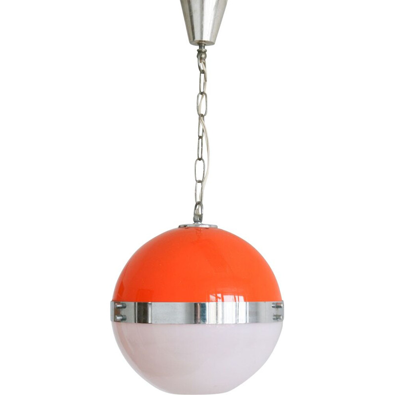 Small vintage space age Italian UFO pendant lamp, 1960s