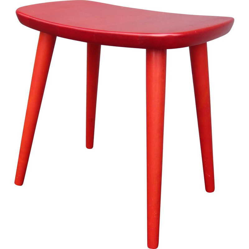 Scandinavian vintage Palle stool by Yngve Ekström for StolAB