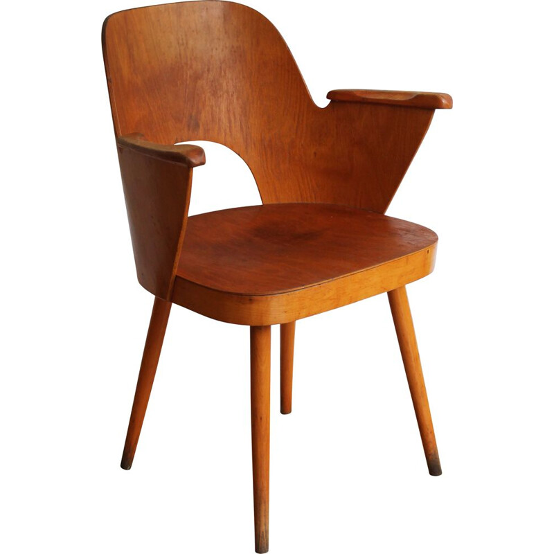 Vintage Dining chair n.1515 by Oswald Haerdtl for TON Company 1955