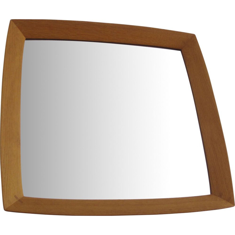 Square Scandinavian mirror by Uno and Östen Kristiansson for Luxus