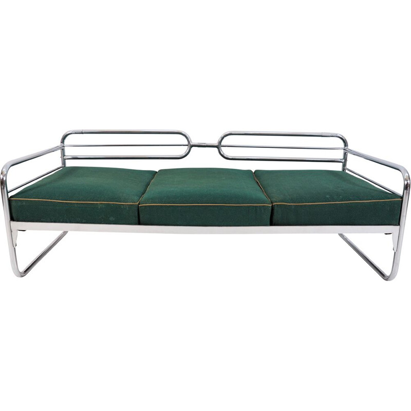 Vintage Chrome Bauhaus Sofa, 1930s
