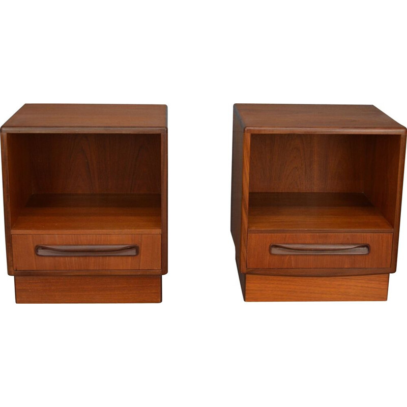 Pair of vintage teak bedsides cabinets by G-Plan, 1960