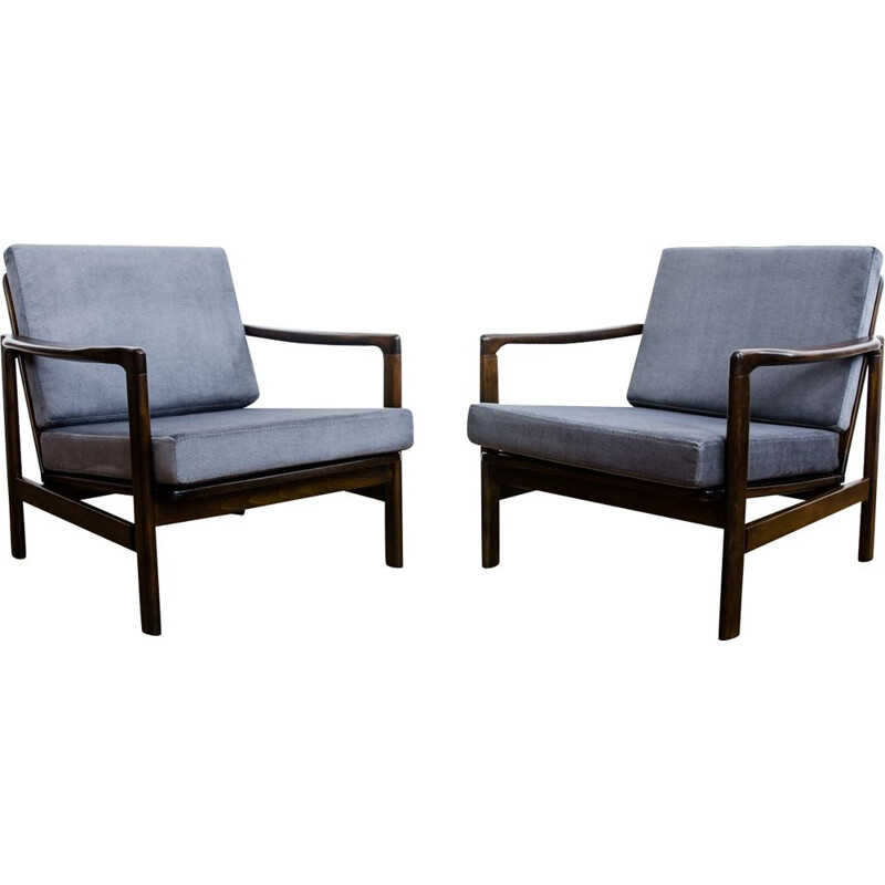 Pair of Vintage B-7522 armchairs by Zenon Bączyk, 1960s