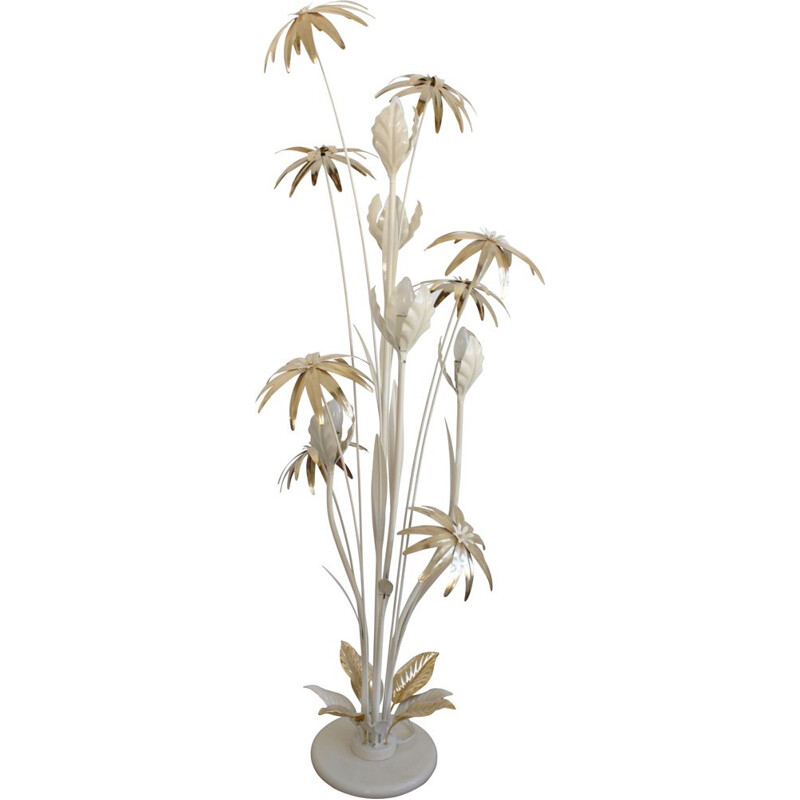 Vintage flower floor lamp par Hans Kögl design Hollywood Regency 1970s