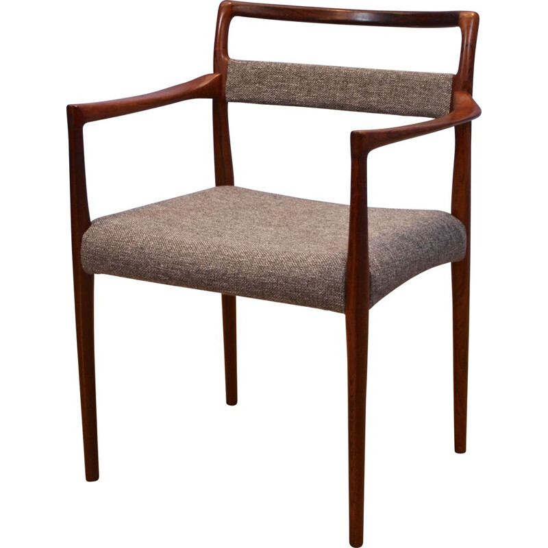 Vintage Danish dining chair in rosewood by Helge Vestergaard Jensen for Peder Pedersen, 1960s