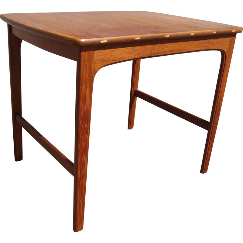 Vintage Scandinavian teak side table by Yngvar Sandström for AB Seffle Möbelfabrik