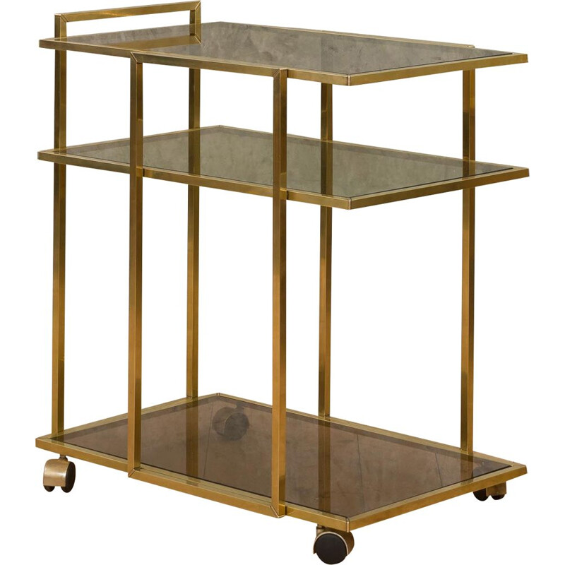 Vintage Hollywood Regency style bar cart