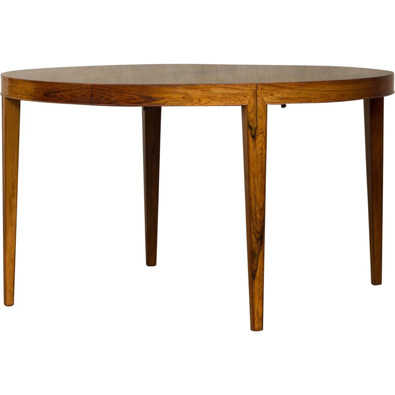 Vintage rosewood extandable table with 4 leaves by Severin Hansen Jr