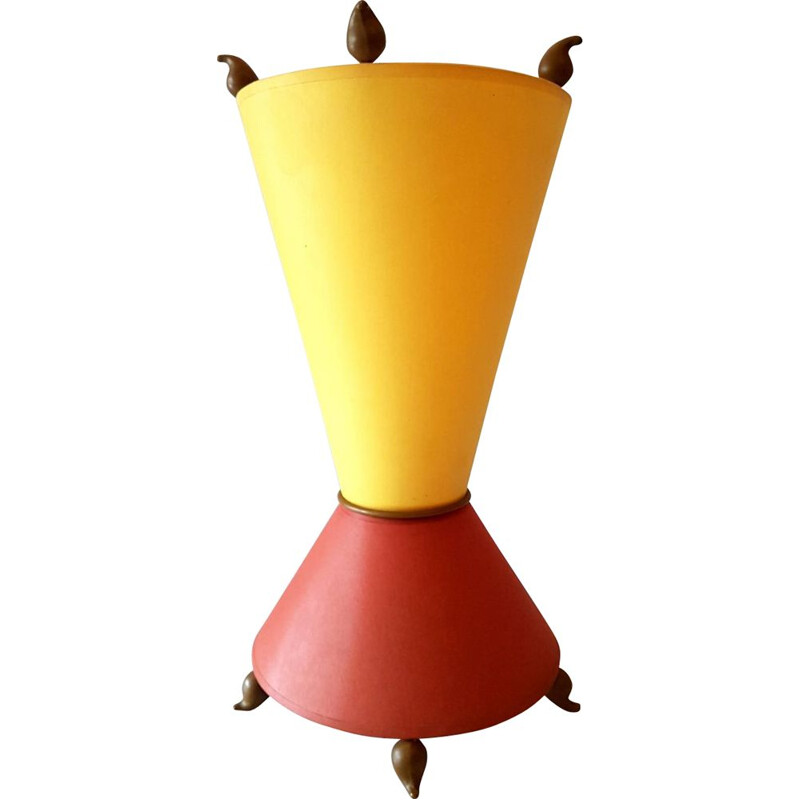 Vintage diabolo shaped table lamp
