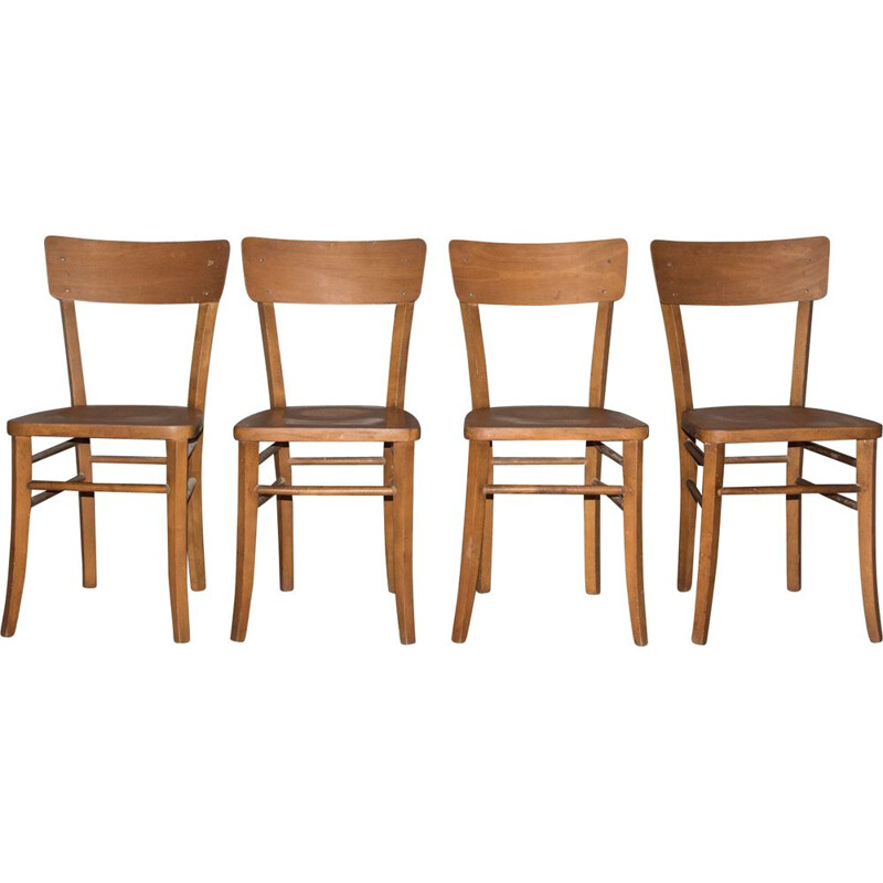 Set of 4 vintage Lutherma chairs, 1950