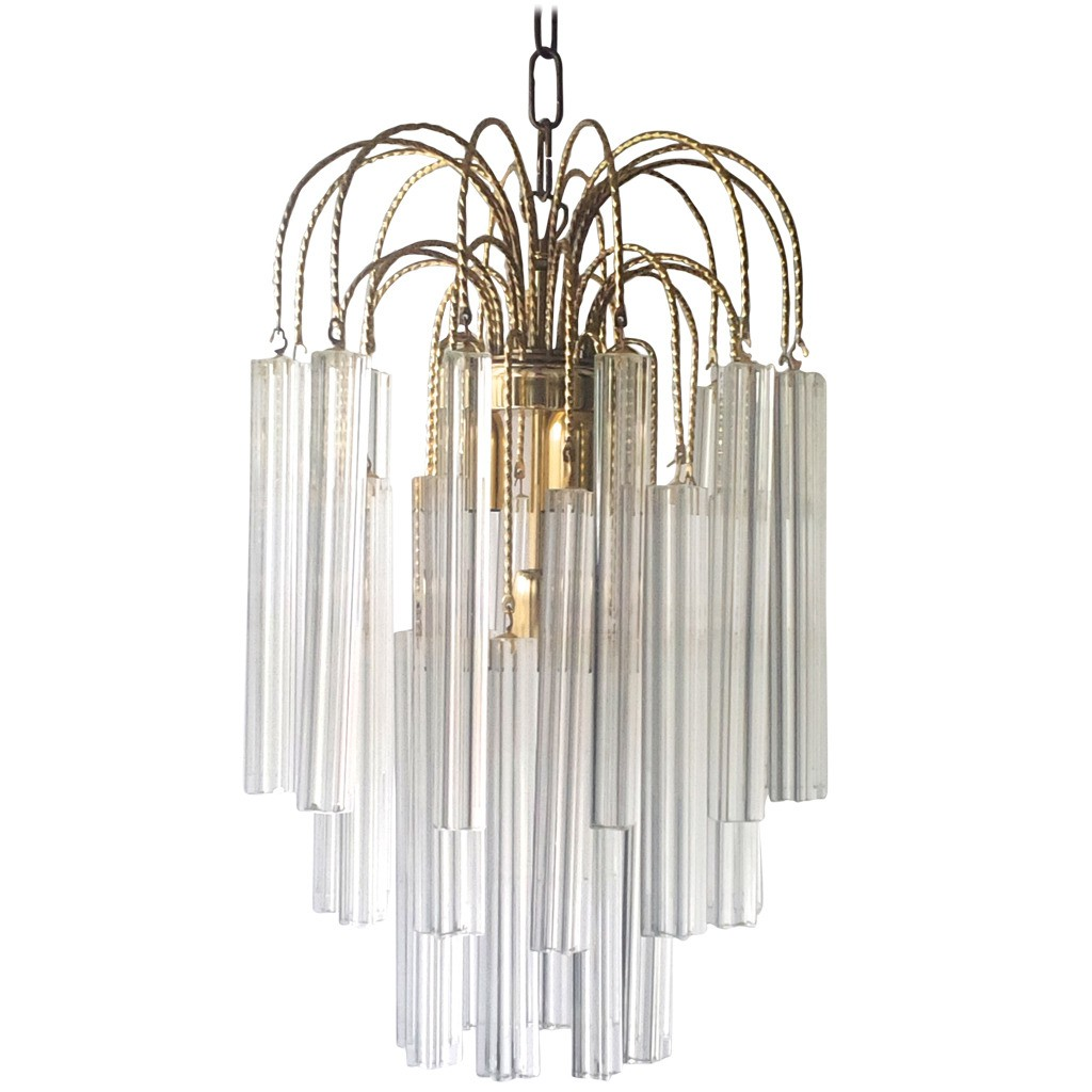 High italian venini chandelier with handcut crystal prisms 1960s previous next arubaitofo Images