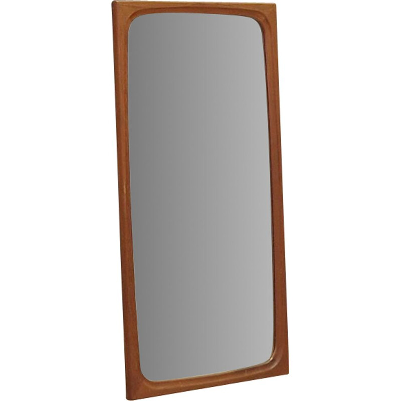 Vintage mirror in teak Danish 1970s