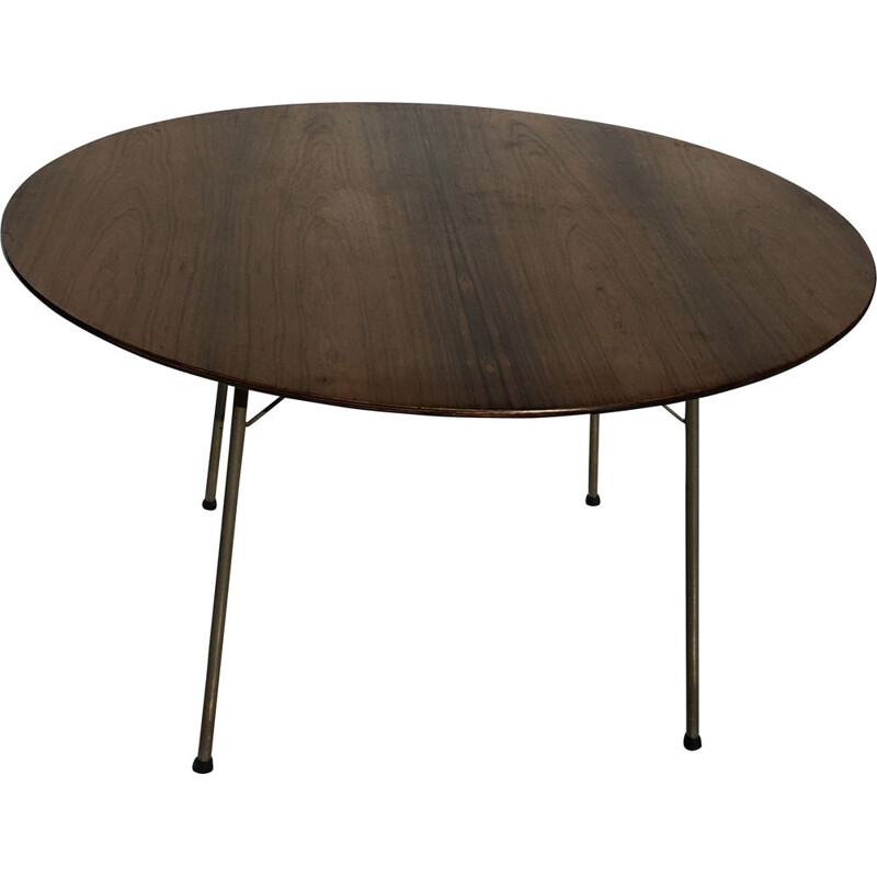 Vintage high rosewood table by Arne Jacobsen