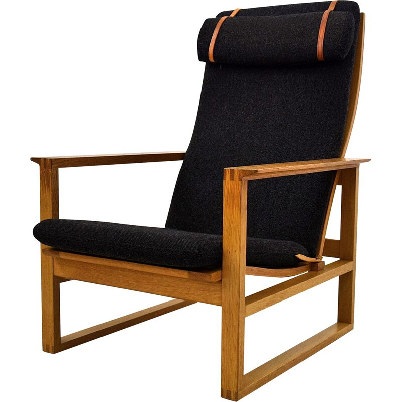 Vintage oak lounge chair by Børge Mogensen
