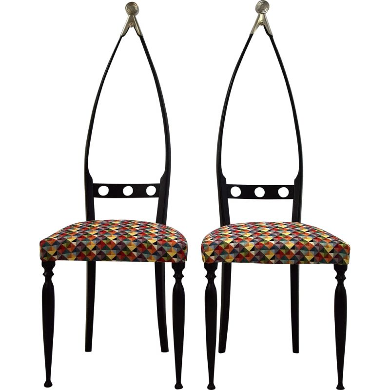 Pair of vintage chairs by Pozzi and Verga