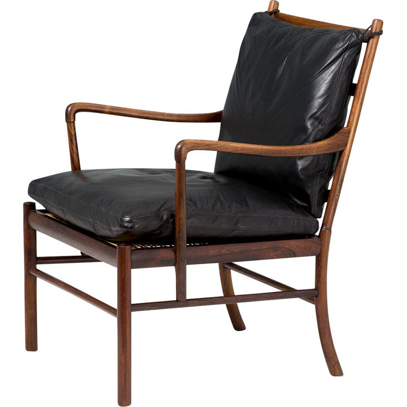 Vintage rosewood colonial chair by Ole Wanscher , 1949