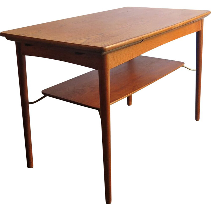 Vintage extendable coffee table in teak 1950s