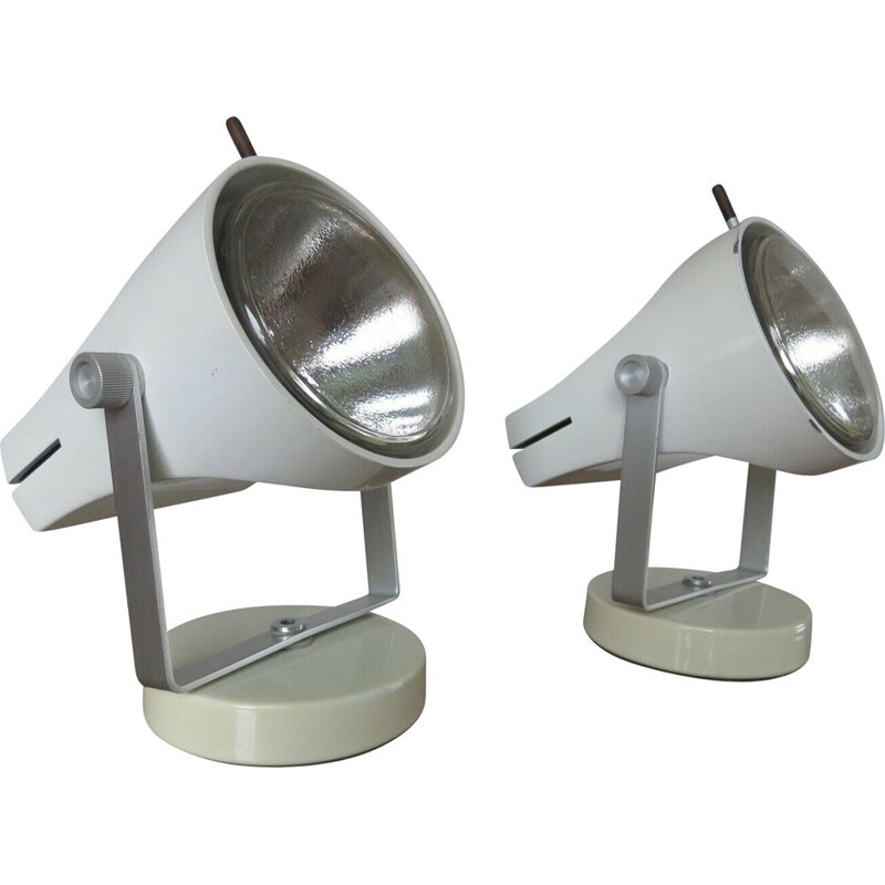 Pair of vintage lamps F39P by Etienne Fermigier for Disderot 1967