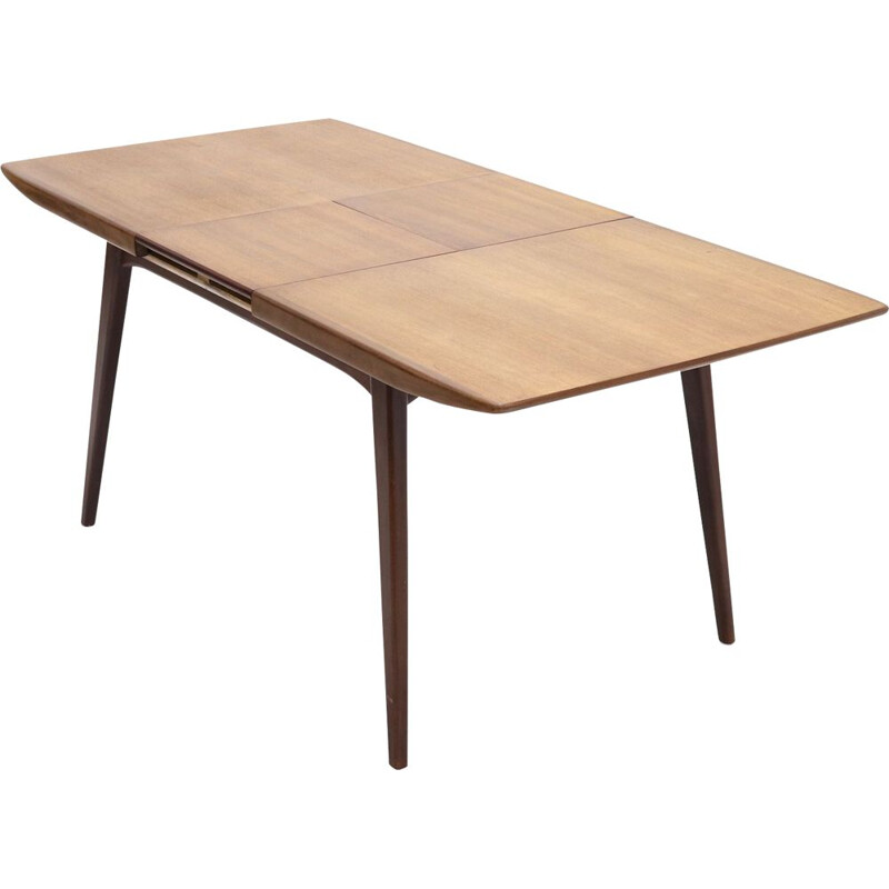 Vintage Teak Dining Table By Louis van Teeffelen for WeBe, 1950