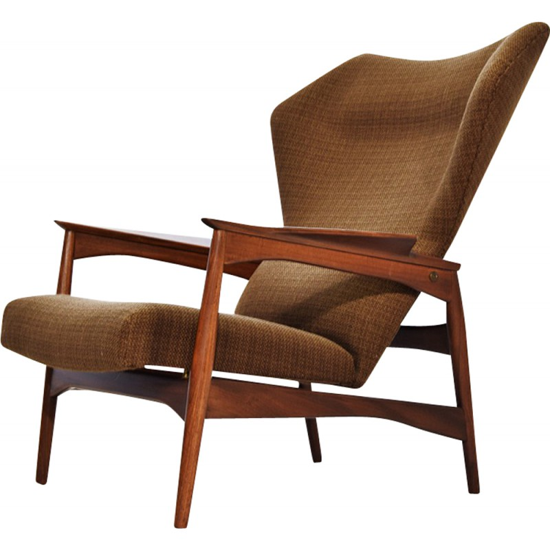 Carlo Gahrn Wingback Lounge Chair In Teak, Ib KOFOD LARSEN   1950s