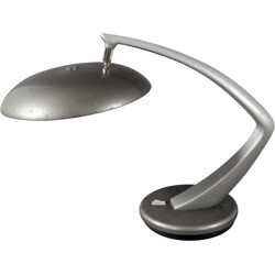Fase swivel desk lamp in cast iron and sheet metal - 1960s