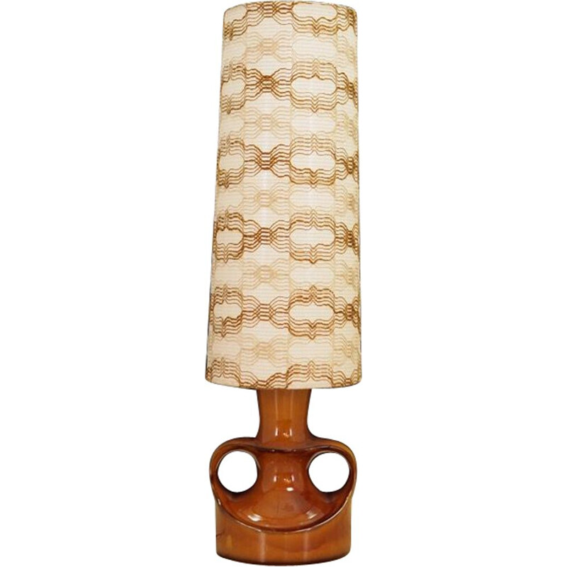 Vintage Danish table lamp in ceramic 1970