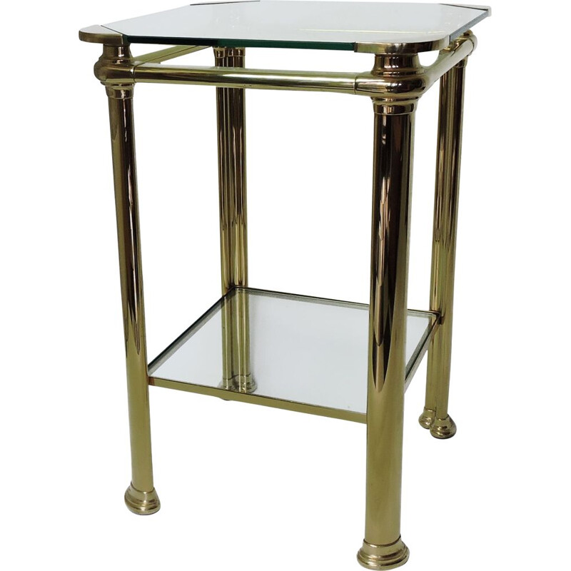 Vintage Italian Brass side Table by Mara, 1970s