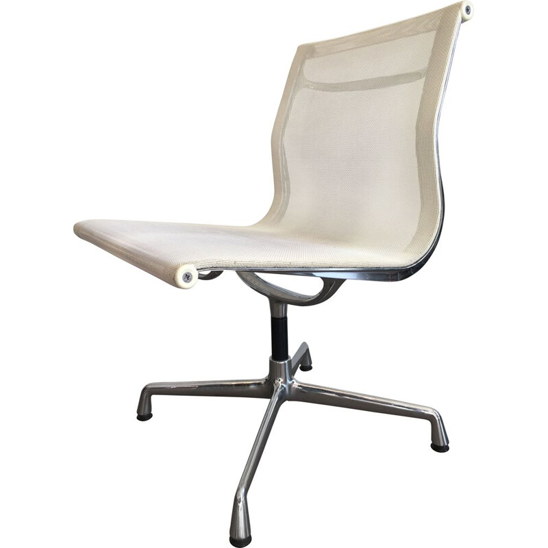 Set of 6 vintage swivel EA105 chairs in chrome by Eames for Vitra