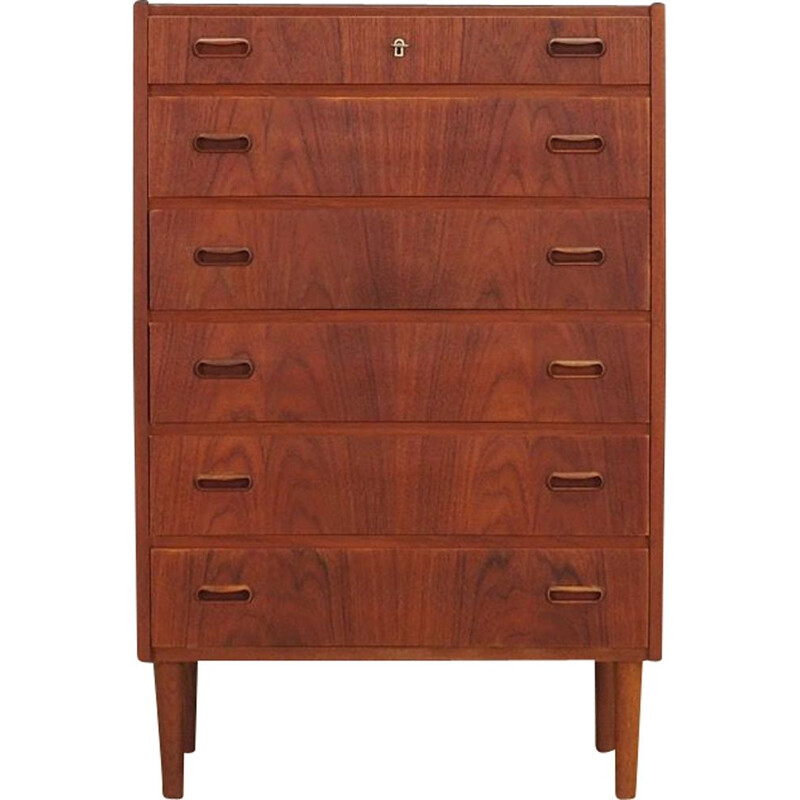 Vintage teak chest of drawers, 1970