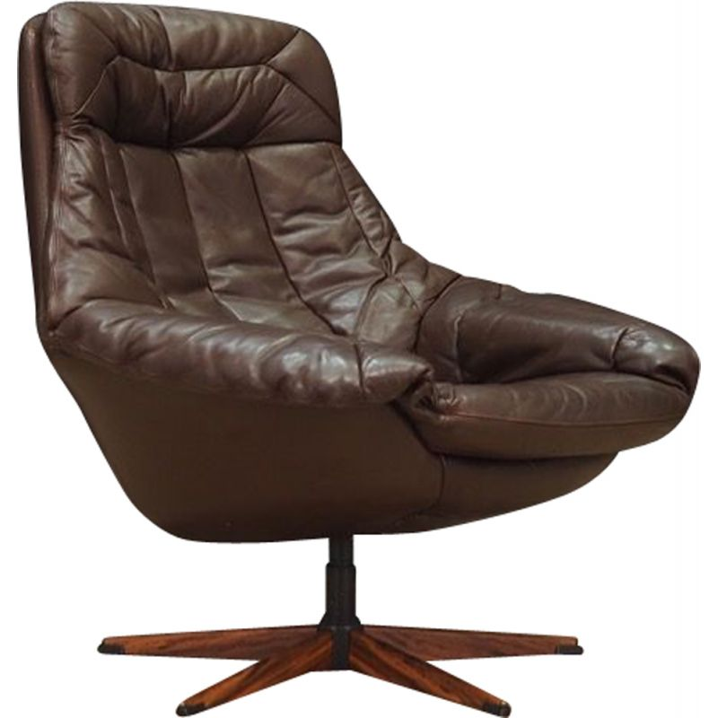 Leather vintage armchair by H.W Klein,1970