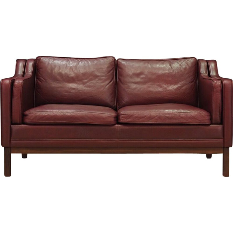 Vintage 2-seater sofa in leather, 1970s