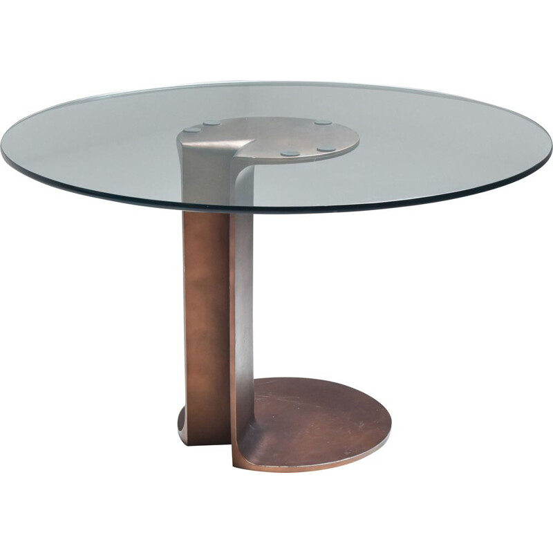 Vintage Afra & Tobia Scarpa bronze table TL59 - 1975
