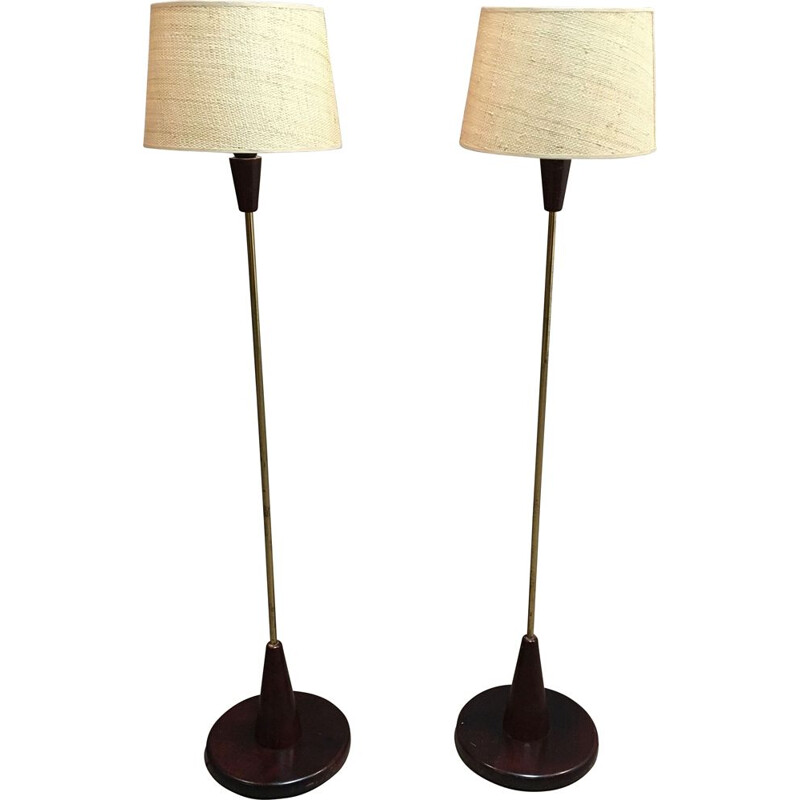 Pair of  Design floor lamps 1950